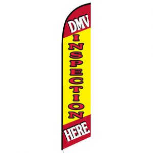 DMV Inspection Here Feather Flag Banner