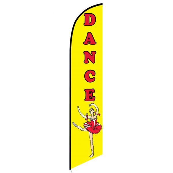 Dance Feather Flag Banner