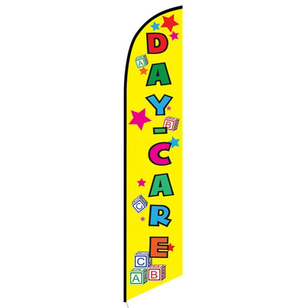 Daycare yellow Feather Flag Banner