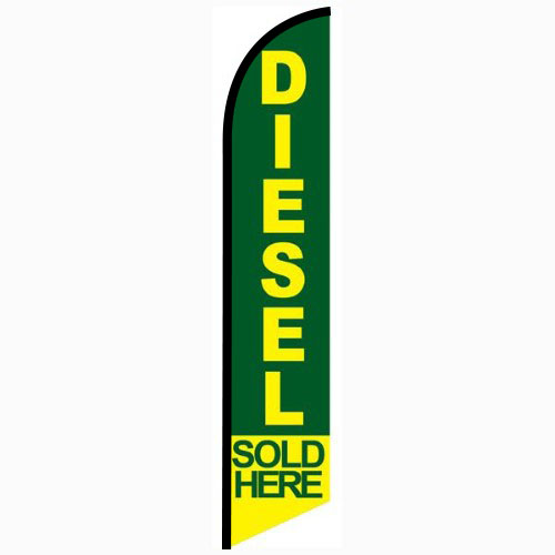 Diesel Sold Here Feather Flag Banner
