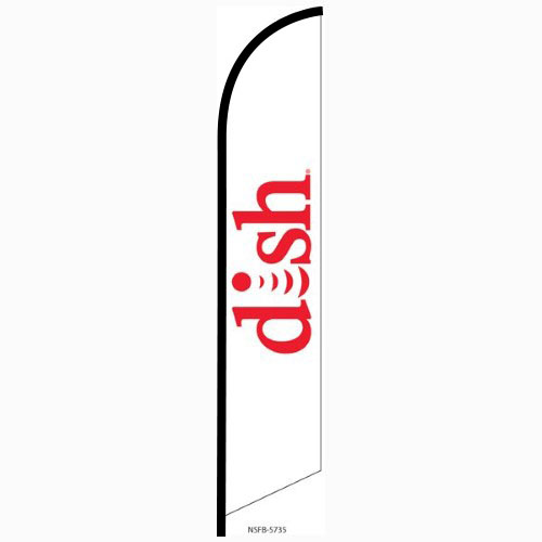 Dish Network Feather Flag Banner