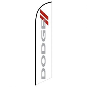 Dodge white Feather Flag Banner