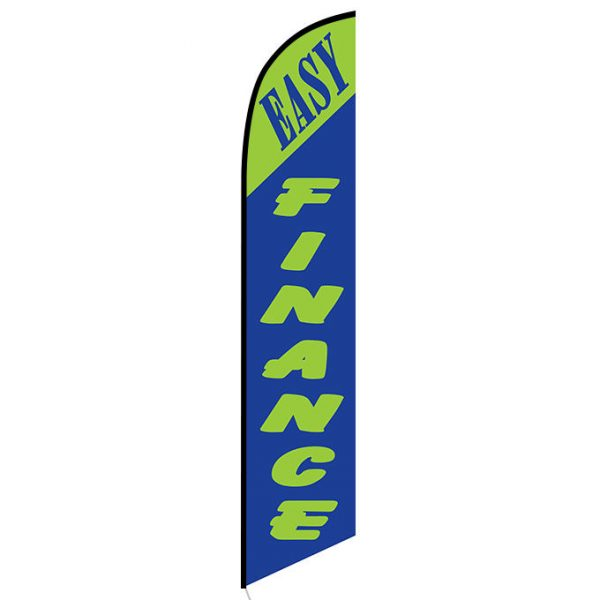Easy Finance green Feather Flag Banner