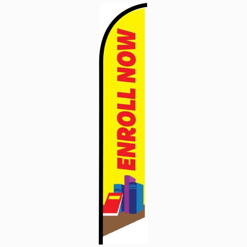 Enroll Now Feather Flag Banner
