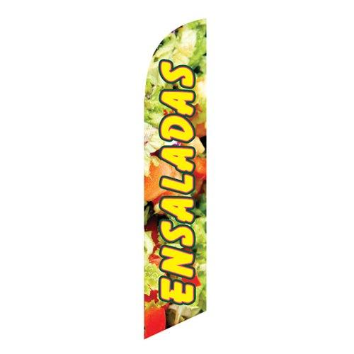 Ensaladas Feather Flag Banner