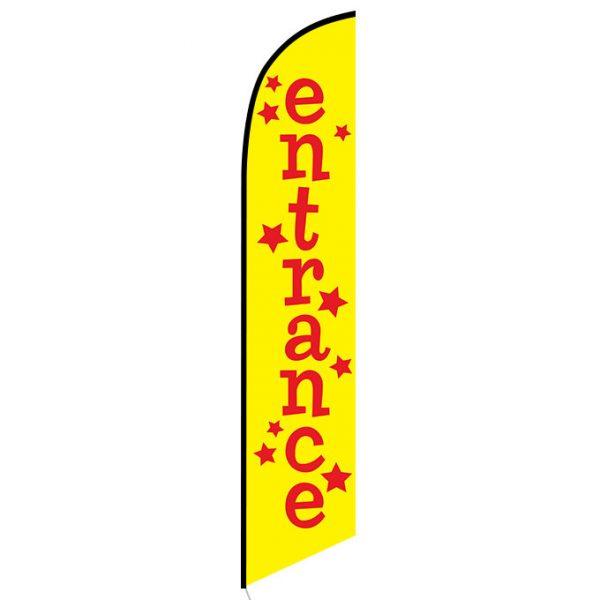 Entrance Feather Flag Banner