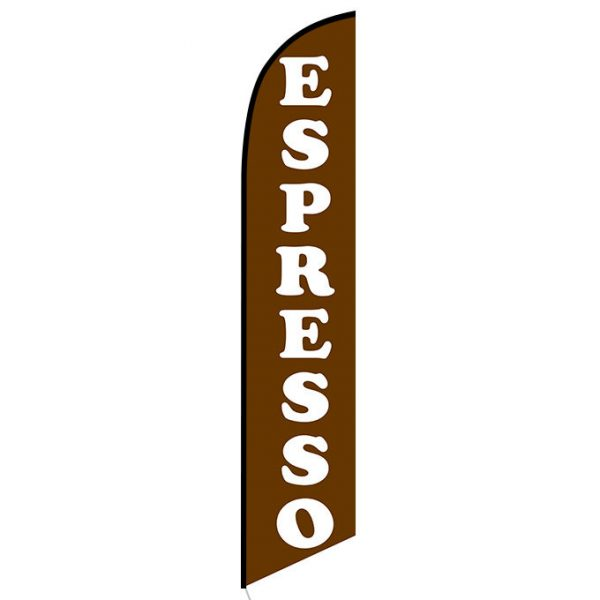Espresso Feather Flag Banner