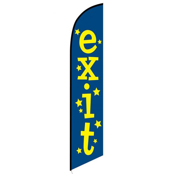 Exit Feather Flag Banner