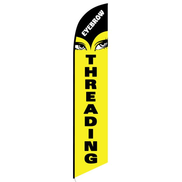 Eyebrow Threading Feather Flag Banner