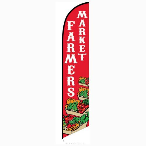 Farmers Market Feather Flag Banner
