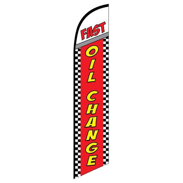 Fast Oil Change Advertising Flag