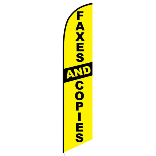 Faxes and Copies Feather Flag Banner