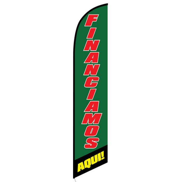 Financiamos Aqui Feather Flag Banner