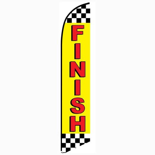 Finish Feather Flag Banner