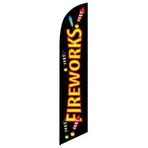 Fireworks Feather Banner Flag