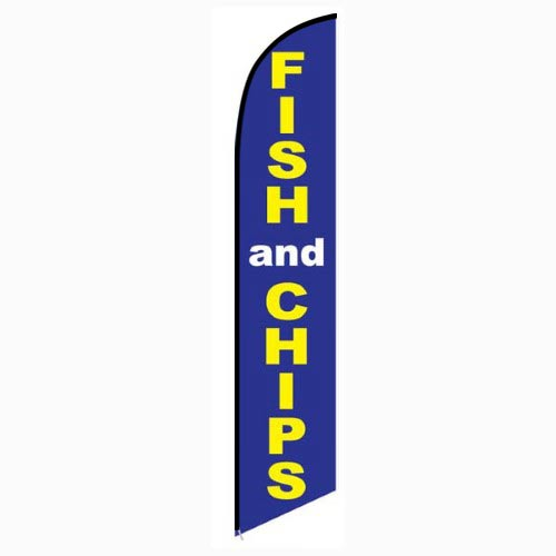Fish and Chips Feather Flag Banner