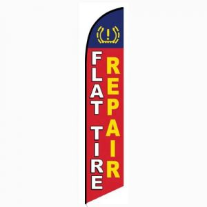 Flat Tire Repair Feather Flag Banner
