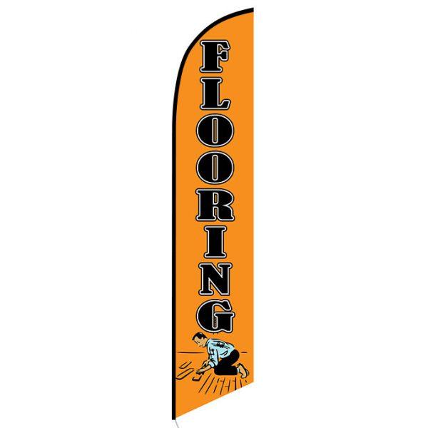 Flooring orange Feather Flag Banner