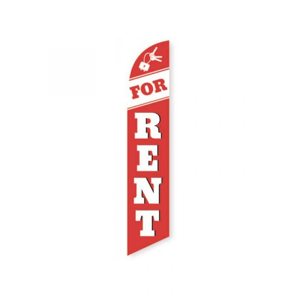 For Rent Feather Flag Banner