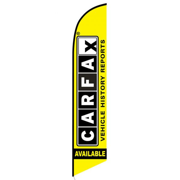Free Carfax Report Feather Flag Banner