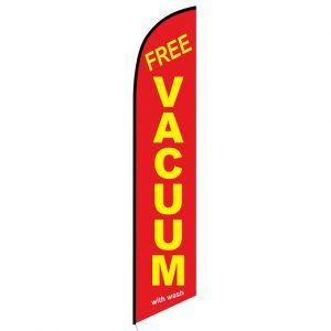 Free Vacuum with wash Feather Flag Banner