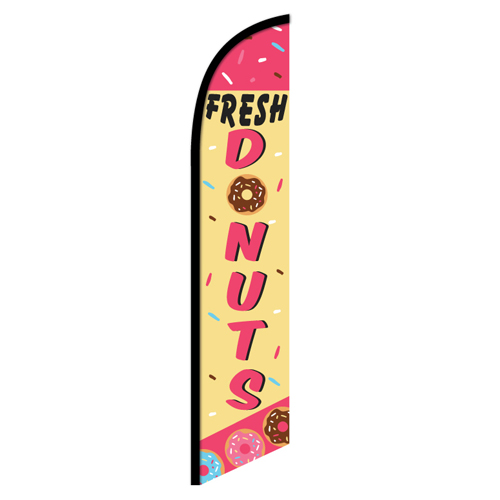 Fresh Donuts Feather Flag Banner