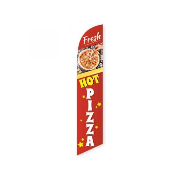 Fresh Hot Pizza Feather Flag Banner