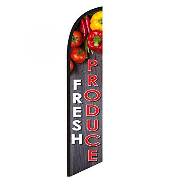 Fresh Produce Feather Flag Banner