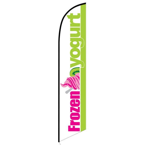 Frozen Yogurt Feather Flag Banner