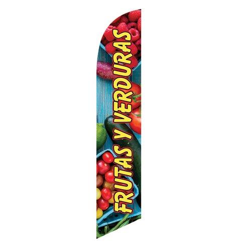 Frutas Y Verduras Feather Flag Banner
