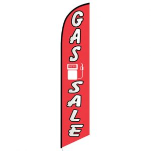 Gas Sale Feather Flag Banner