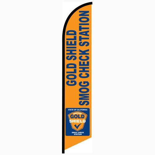 Gold Shield Smog Check Station Flag