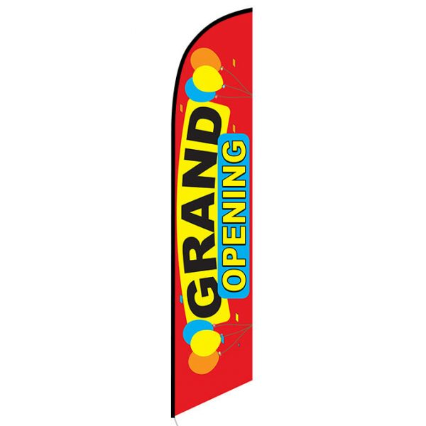 Grand Opening (red) Feather Flag Banner
