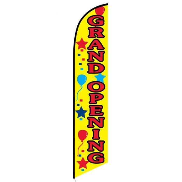Grand Opening (yellow) Feather Flag Banner