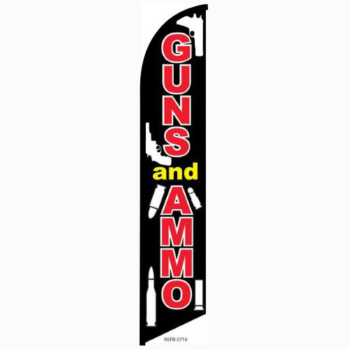 Guns and Ammo Feather Flag Banner