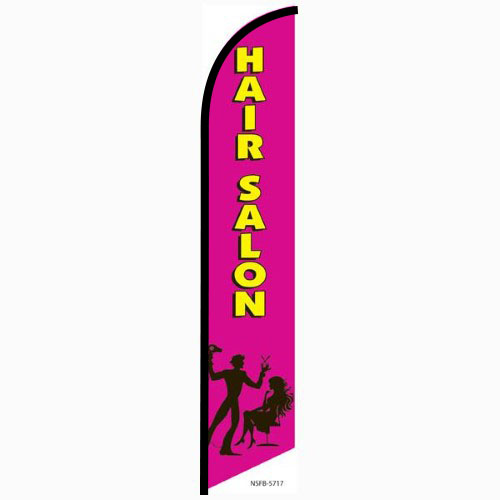 Hair Salon pink Feather Flag Banner