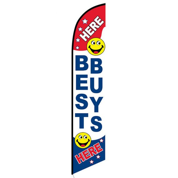 Here Best Buys Here Feather Flag Banner