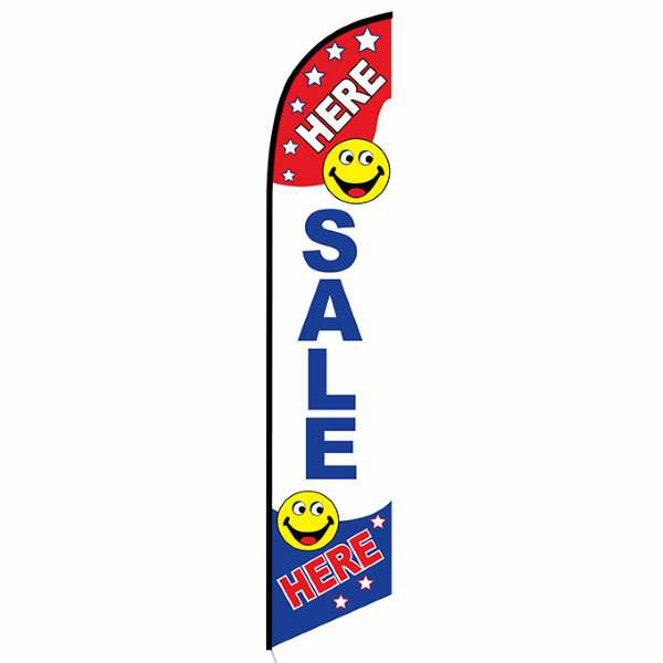 Here Sale Here Feather Flag Banner