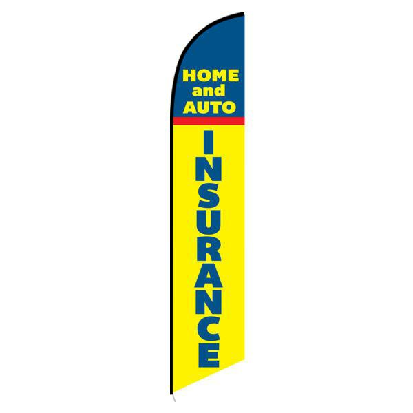 Home and Auto Insurance Feather Flag Banner