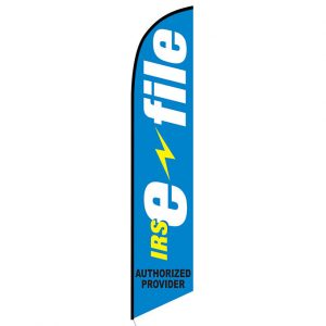IRS E-file Authorized Provider Feather Flag Banner