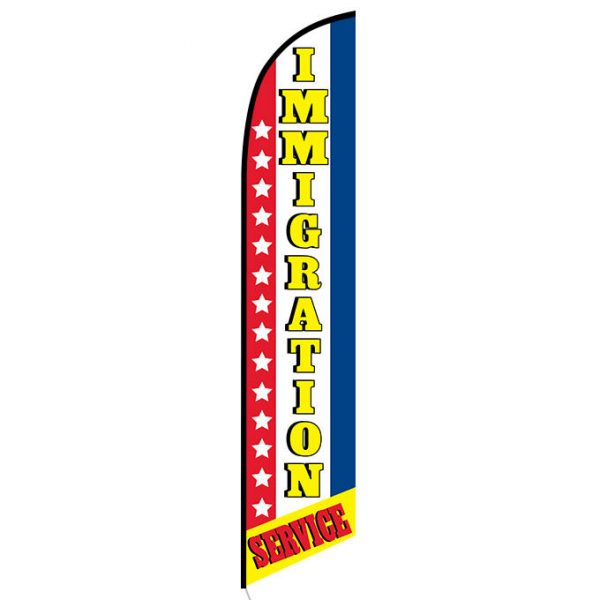Immigration service Feather Flag Banner