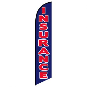 Insurance blue Feather Flag Banner