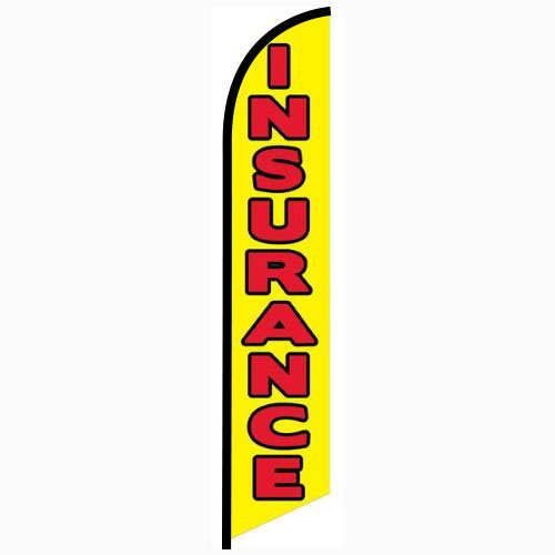 Insurance yellow Feather Flag Banner
