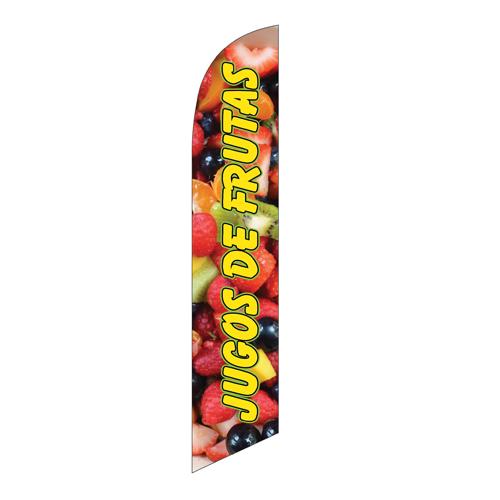 Jugos De Frutas Feather Flag Banner