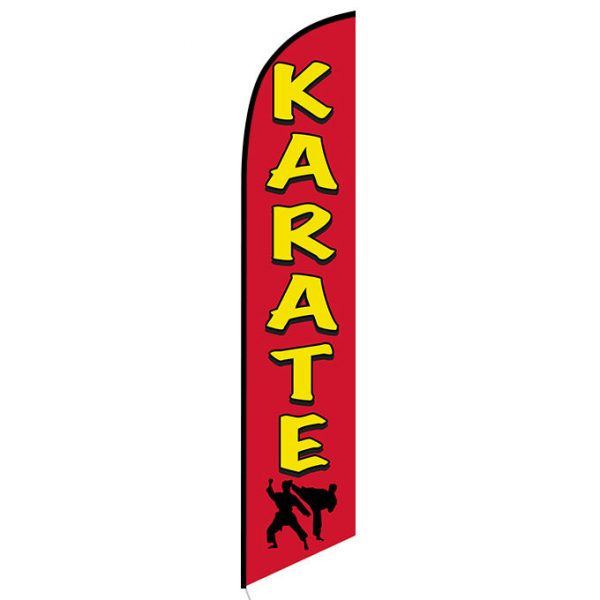 Karate Feather Flag Banner