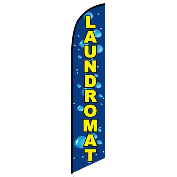 Laundromat Feather Flag Banner