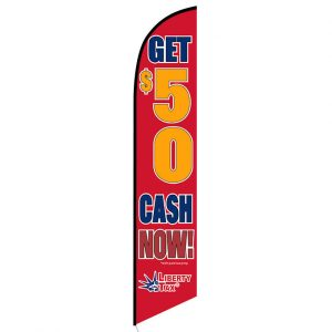 Liberty Tax Get $50 Feather Flag Banner