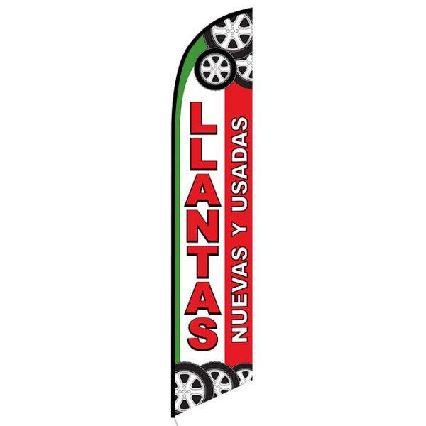 Llantas nuevas y usados Feather Flag Banner