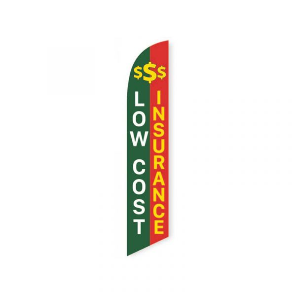 Low Cost Insurance Feather Flag Banner