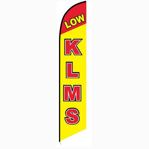 Low KLMS Feather Flag Banner